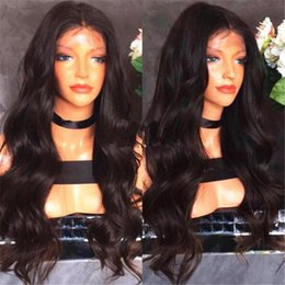 Glueless Lace Front Wigs 14 Australia - 150% density Unprocessed Peruvian Virgin Hair Body Wave Glueless Full Lace Human Hair Wigs for Black Women Full Lace Wigs& Lace Front Wig