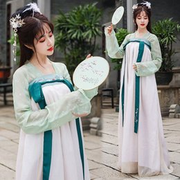 ancient chinese silver Australia - Chinese Traditional Women Hanfu Dress Fairy Princess Dresses Hanfu Folk Dance Clothing Tang Dynasty Ancient Costume