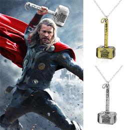 Plates Gift Europe Australia - Europe And The United States Movie Around The Avengers Quake Hammer Tor Plating Alloy Pendant Unisex Gift Necklace
