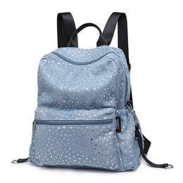baby diaper bags patterns NZ - Fashion Women Diaper Bags Stars Pattern Denim Soft Material Baby Changing Bag With 2 Straps Stroller Backpacks For Baby Care J190621