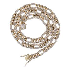 2019 Novo Hip Hop Colar De Diamante Micro Cubic Zirconia Cobre Pingente Conjunto Colar Com Diamantes 18k Chapeamento De Ouro Cuba ChainTwist Cadeia