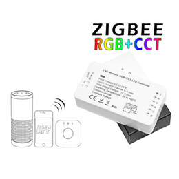 Wireless Rgbw Controller Australia - 2.4G wireless RGB+CCT LED Controller RGBW Zigbee Hue App Controller for Strip Lights