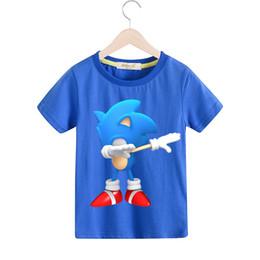 Children White Tees UK - Boy 2019 Spring Cartoon Mario Tees Top Costume Girls Dab Print T-shirts Clothing Children Short Sleeve T Shirt Kids Tshirt