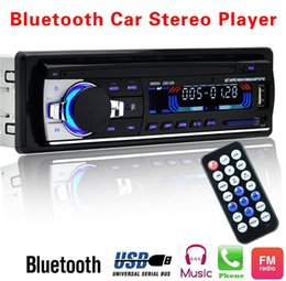 Iso radIo online shopping - Car Radio V Bluetooth V2 JSD520 Car Stereo In dash Din FM Aux Input Receiver SD USB MP3 MMC WMA without ISO Connector