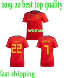 team soccer uniforms kit NZ - Spain 2019 Women World Cup Soccer 10 Jennifer Hermoso Jersey National Team 19 Amanda Sampedro 11 Alexia Putellas Football Shirt Kits Uniform