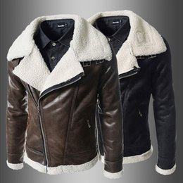 Wholesale New men camouflage lamb woolen casual fur collar plush high grade faux leather jacket European style Dropshipping top coat
