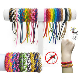 Boys Bracelet weave online shopping - Mosquito Repellent Leather Bracelet Anti mosquito Woven Wristband Insect Repellent Band Pest Control Insect Protection Bracelet DHL A5904