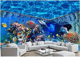 $enCountryForm.capitalKeyWord Australia - 3d wallpaer custom mural photo Ocean shark dolphin aquarium full house background wall home decor living room wallpaper for walls 3 d
