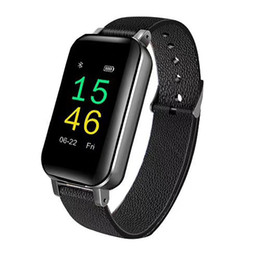 $enCountryForm.capitalKeyWord UK - T89 Smart Bracelet Fitness Tracker TWS Wireless Headset Bluetooth 5.0 Earphones Heart Rate Monitor IP67 Smart Band Sports Watch