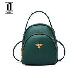 Chinese  Mini Small Backpacks For Teenage Girls Women Backpack Ladies Shoulder Bags Cute PU Leather Small Women Backpack Bee School bag manufacturers