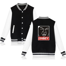 44f300ea9ee funny fashion kpop EXO ohbey printed Baseball Jacket men women Hoodies  Sweatshirts casual Long Sleeve Jackets coat top