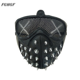 $enCountryForm.capitalKeyWord Australia - Game Watch Dogs 2 WD2 Mask Marcus Holloway Mask Wrench Cosplay Rivet Face Mask Half Face Latex Party Cosplay Props