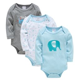 baby jumpsuit wholesale NZ - 2019 Kavkas Boy Clothes Bodys Winter Baby Romper Newborn Wear Long Sleeve Jumpsuit J190524