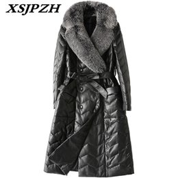 $enCountryForm.capitalKeyWord NZ - 2018 New Winter Women Genuine Leather Coat Fox Fur Collar Fashion Temperament Solid Slim Thick Sheep Skin Long Down Jacket LC352