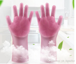 Cleaning Pack Australia - Hot Sale Cleaning Brush Silicone Gloves Clean the bathroom cook and pet car Magic gloves opp packing Free shipping