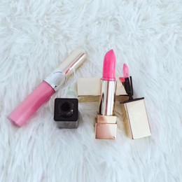 Luxury Lipsticks Australia - 2019 hot sale Famous Y Brand Makeup Brand Lip sets Travel Selection 3pcs set Lipstick Matte Lip Gloss Luxury brand