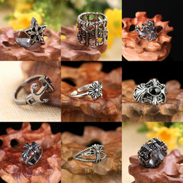 Cluster Rings NZ - Men's Vintage Punk Vintage Gothic Knights Templar Cross Jewelry Stainless Steel Cluster Ring Gift