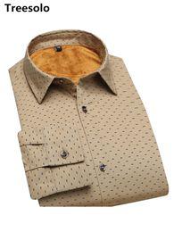 polka dot dress shirts for men 2019 - Man Cotton dot Shirts high quality male dress shirts winter thicken design warm Tops 2018 Hot Sale Long Sleeve shirt for