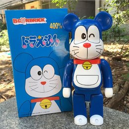 Doraemon Free Gift Australia - New 11inch 400% Bearbrick Be@rbrick Doraemon Model PVC Action Figure Collectible Toy fashion toy Gifts IN STOCK free shipping