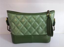 Black Soft Leather Hobo Bag Australia - European American Fashion Hobo Lady Messenger Bag Classic Diamond Lattice Shoulder Bags Cell Phone Purse Genuine Leather Cross Body