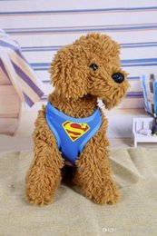 small dog fashion harness 2019 - Hot Sale Super Hero Dog Harnesses Collar Flashers Pet Leashes Fashion Teddy Adjustable Strap Vest Collar Car Seat Belt P