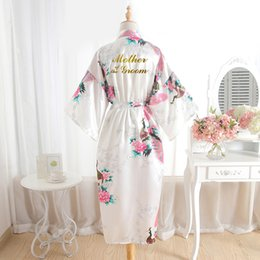 silk mother bride dresses UK - BZEL Mother Of The Groom Robes Wedding Robe Bride Floral Bathrobe Silk Bath Robe Long Bridal Party Gifts Dressing Gown Wholesale