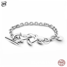 mothers charm chain Australia - New 925 Sterling Silver Bracelet Love Knotted Heart Woman Bangles Fit Bead Charm DIY Jewelry Mother Day Gift