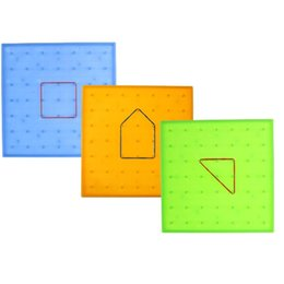 geometry puzzle UK - Plastic Nail Plate Primary Mathematics Nailboard Tool Geometry Demo Children Educational Toy Teaching Instrument Puzzle Game Toy