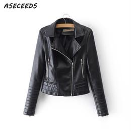 $enCountryForm.capitalKeyWord Australia - Zipper PU leather jacket women Motorcycle punk jackets faux leather coats women 2019 korean cool biker outerwear rave streetwear