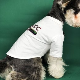 $enCountryForm.capitalKeyWord Australia - Wholesale Summer Fashion Dog T-shirts Casual Style Thin Sequined Breathable T-shirts High Quality Pets Apparel 2 Colors