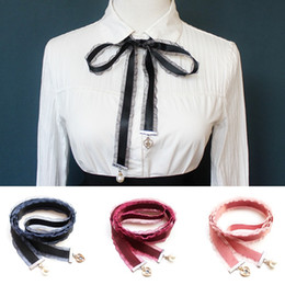 wholesale fashion skinny belts women NZ - Fashion New scarf Female bow tie rope long ribbon cloth belt bag handle ribbon bow 130 * 2.5cm