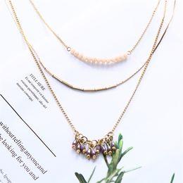 $enCountryForm.capitalKeyWord Australia - Classic Wild Bead Long Necklace Temperament Metal Section Set Chain Necklace Accessories Gift Elegant For Women Men Gift