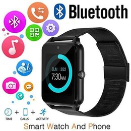 bluetooth smart watch sim Australia - Bluetooth Smart Watch Z60 Stainless Steel Support SIM Card TF Card Camera Fitness Tracker Smart Sports Watch Applicable To Android Phone