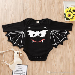 Wholesale halloween costume toddler resale online - Baby Boys Girls Rompers With Wing Halloween Ins Jumpsuit Clothing Toddler Boutique Romper Clothes Kids Long Sleeves Batman Costume