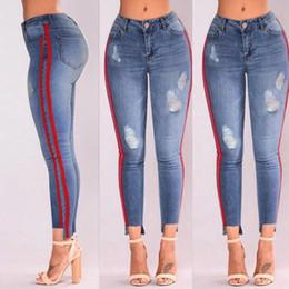 $enCountryForm.capitalKeyWord Australia - New Fashion Women Denim High-Waist Ripped Stretchy Hole Pencil Pants Hot Sale Jeans Trousers For Ladies 2019 Korean Street Style