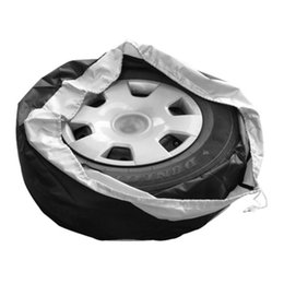 "cars spare parts UK - 4 Season Universal Car Tire Case Cover Durable Oxford Cloth Dustproof Portable Storage Bag Tyre Parts for 13-19"" Spare Wheel"