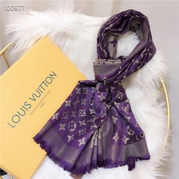 Best selling scarves online shopping - 7colors Designer Woman soft Lamé Scarf Luxury Four seasons style silk and cotton scarf long shawl Printed Best selling classic size180