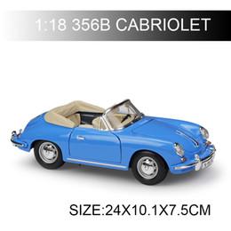$enCountryForm.capitalKeyWord Australia - 1:18 356B CABRIOLET Blue Diecast Model Car Metal Car Kids Toys Car simulation model For Gift Collection