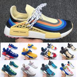 $enCountryForm.capitalKeyWord NZ - Best Quality Human Race Lightweight Running Shoes For Men Women Pharrell Williams HU Designer Sports Trainers Tennis Jogging Shoes 36-47