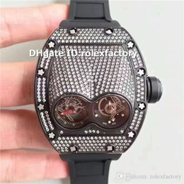 $enCountryForm.capitalKeyWord Australia - 2019 New Luxury 053 Watch Swiss 2824-2 Automatic Tourbillon 28800bph Sapphire Black Full Diamond Stainless Steel Rubber Strap Mens Watch