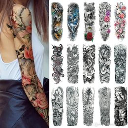 Men's Accessories Men's Arm Warmers 1 Pair Mix Styles Temporary Fake Slip Tattoo Arm Sleeves Body Art Arm Leg Stockings Drop Ship #