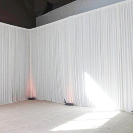 Drapes For Decorations Parties Australia - Colorful wedding backdrop curtain event party decor customized wedding stage background silk drape decoration for stage
