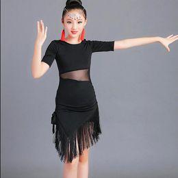 4e35c690a115 2019 Latin Fringe Dress Sexy Ballroom Latin Salsa Dance Dress Clothes Samba Dance  Costume Kids Child For Girls