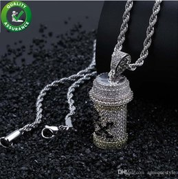 Bling Gifts Australia - Iced Out Pendant Mens Hip Hop Jewelry Luxury Designer Necklace Diamond Pendants + Rope Chain Micro Paved Bling CZ Women Wedding Accessories