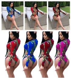Strap tightS online shopping - Women Sexy Tankini Swimwear Long Sleeve Rashguard Piece Bathing Suit For Lady Tights Cross Strap Flowers Bikini Swim Diving Suit New C3206
