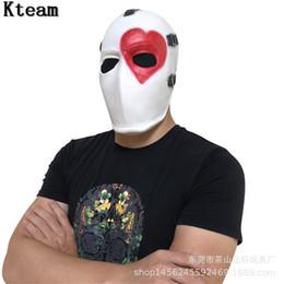 Halloween Games For School Australia - 2019 New Game Adult Wild Card Skin Poker Latex Mask Helmet Halloween Cosplay Costumes Masks Props