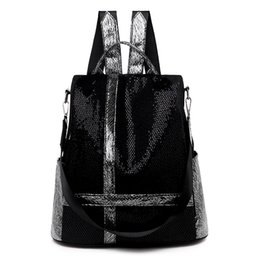 China Backpacks School Bags Teenager For Girl Fashion Women Black Backpack High Quality Designer Stitching Lady Shoulder Student Bag cheap backpack stitching suppliers