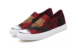 Best Canvas Prints Australia - 2019 New Casual Designer Loafers Sneakers Best Canvas black Shoes Embroider Tiger Head Men Casual Shoes Mens Flat Shoe Chaussures