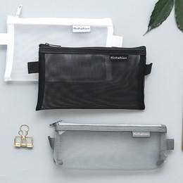 $enCountryForm.capitalKeyWord Australia - Women Mesh Cosmetic Bag Zipper Clear Make Up Case Transparency Toiletry Wash Box Travel Storage Bag Pencil Case!