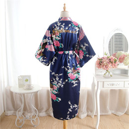 df9a98f973 2019 Fashion Silk long Bride of Mother Robe with Gold Letter Sexy Women  Short Satin Wedding Kimono Sleepwear Get Ready Robe